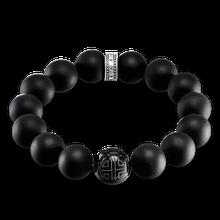 "Thomas Sabo Armband ""Power Bracelet Obsidian"" fuchsia A1573-704-11-L15"
