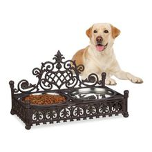 Futterbar Hunde aus Gusseisen braun  Erwachsene
