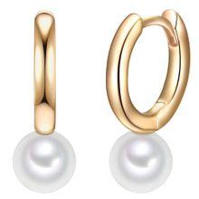 Valero Pearls Creolen gold / perlweiß