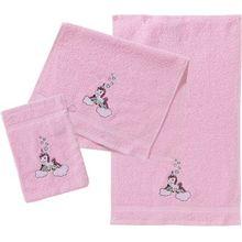 myToys Frottierset, 2 Handtücher & 1 Waschlappen, Einhorn, rosa