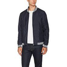 Urban Classics Herren und Jungen Light College Blouson, leichte Jacke für Frühling und Sommer, Übergangsjacke, Collegejacke,blau, XL