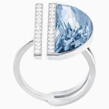 Glow Ring, blau, rhodiniert