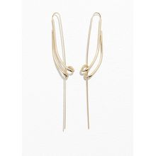 Sculptural Pin Earrings - Gold