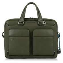 Piquadro Black Square Kurzgrifflaptoptasche 39.5 cm grün