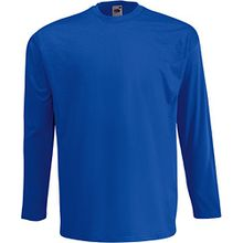 Fruit of the Loom - Langarmshirt 'Valueweight Longsleeve T' / Royal, XL