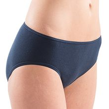 HERMKO 5031 Damen Midi-Slip Baumwolle/Elastan, Farbe:marine, Größe:40/42 (M)