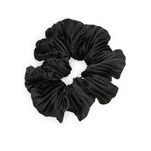 Pleated Hair Scrunchie - Black