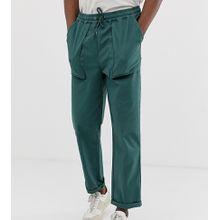 ASOS DESIGN Tall – Locker geschnittene Hose in Dunkelgrün mit Taschen