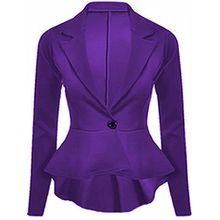 Generic Damen Schößchen Blazer Violett Violett 34
