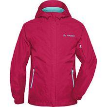 Vaude Girls Leni 2L Jacket - Regenjacke, Vaude_Farbe:grenadine;Größe_Bekleidung_Kinder:110/116