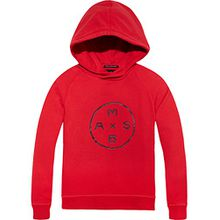 SScotch & Soda Shrunk Jungen Sweatshirt Garment Dyed Hooded Sweat, Rot (Chilli Pepper Red 1762), 164 (Herstellergröße: 14)