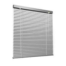 Aluminium Jalousie, 130 x 220 cm, silber, VICTORIA M - Jalousie ohne Bohren, inkl. Klemmclips