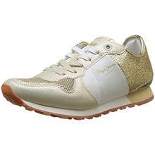 Pepe Jeans London Damen Verona W Sequins Sneaker, Gold (Gold), 39 EU