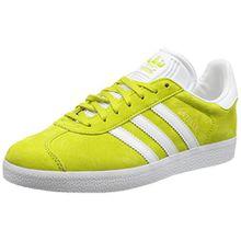 adidas Unisex-Erwachsene Gazelle Sneakers, Gelb (Unity Lime/White/Gold Met), 40 (6.5 UK)
