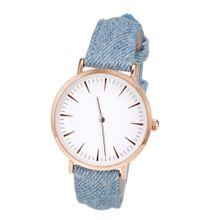Heine Armbanduhr rauchblau / gold / weiß