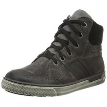 Superfit Luke 700208, Jungen Hohe Sneakers, Grau (Stone Kombi 06), 34 EU
