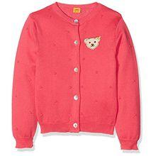 Steiff Collection Mädchen Strickjacke 1/1 Arm 6832307, Rot (Paradise Pink 2024), 74