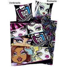 Herding 442733050 Bettwäsche Monster High, Kopfkissenbezug: 80 x 80 cm + Bettbezug: 135 x 200 cm, 100% Baumwolle, Renforce