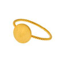 Ring Plättchen, 18 K Gelbgold vergoldet