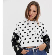 Vans - Exklusiver Kapuzenpullover mit Punkte- und Gänseblümchenprint - Weiß