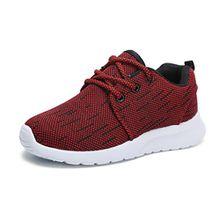 Hawkwell Unisex Kinder/Jugend Leicht Runing Sportschuhe Sneakers Laufschuhe Rot 33EU