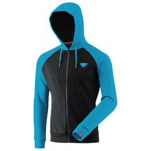 Dynafit - 24/7 Logo Zip Hoody - Hoodie Gr L;M;XL;XXL schwarz/grau;schwarz/blau/türkis
