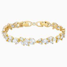 Louison Armband, weiss, Vergoldet