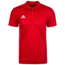 ADIDAS PERFORMANCE 'Core 18' Poloshirt rot / weiß