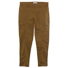 sheego Hose Cargohose Pants Die Schmale Damen Stretch Zip Kurzgröße Plusgröße , Farbe:braun;Damengrößen:56