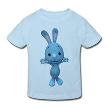 Spreadshirt KiKANiNCHEN Kaninchen Winkt Mit Den Pfoten Kinder Bio-T-Shirt, 98/104 (3-4 Jahre), Hellblau