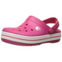 crocs Crocband Kids, Unisex-Kinder Clogs, Rosa (Raspberry/White), 27/29 EU (10-11C UK)
