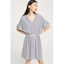 CLOSED Gestreiftes Jerseykleid blanched almond