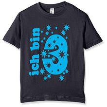 Coole-Fun-T-Shirts Jungen T-Shirt Ich Bin 3 Jahre!, Gr. One Size (Herstellergröße: 98cm/3 Jahre), Blau (Navy-Sky)