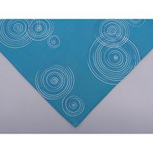 Hossner Mitteldecke Tischdecke LUGAU KREISE 85x85cm türkis blau