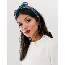 ASOS DESIGN - Bandana aus Polyester-Satin mit tropischem Print - Mehrfarbig