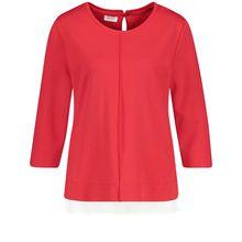 Gerry Weber T-Shirt 3/4 Arm 3/4 Arm Shirt mit Chiffonbesatz rot Damen