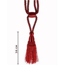 Raffhalter 50 cm /Quaste 16 cm mit Kordel Farbe Rot Schmuckquaste Gardinen Vorhang Gardinenhalter Quaste Halter für Gardinen Barock Design