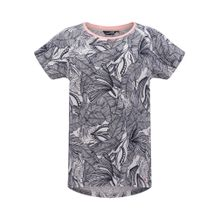 Petrol Industries T-Shirt kobaltblau / rosa / weiß