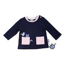 Sigikid Baby-Mädchen Sweatshirt, Blau (Peacoat 260), 80