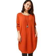 Vogstyle Damen Jumper Pullover Gr. Einheitsgröße, Orange - Orange-2