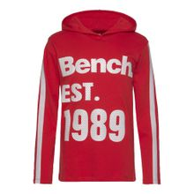 BENCH Kapuzenshirt rot / weiß