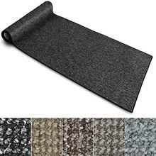 Teppich Läufer Carlton | Flachgewebe dezent gemustert | Teppichläufer in vielen Größen | als Küchenläufer, Flurläufer | mit Stufenmatten kombinierbar (Anthrazit - 100x350 cm)