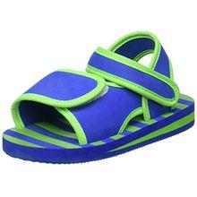 Playshoes EVA Sandale Streifen 171784, Unisex - Kinder Sandalen, Blau (blau/grün 791), EU 20/21