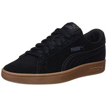 Puma Unisex-Kinder Smash v2 SD Jr Sneaker, Schwarz Black-Asphalt, 39 EU