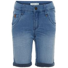Name it Jungen Jeans-Bermuda Sofus slim Long Shorts Denim, Größe:140, Farbe:light blue denim