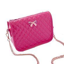 Minetom Ledertasche Damen Bowknot umhängetasche Handtasche Satchel Messenger Purse Tasche 5 Farben ( Rose )