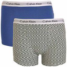 Calvin Klein Jungen Boxershort mehrfarbig mehrfarbig Gr. 14 Jahre, Medium Grey Chevron Print / Cobalt Water Blue
