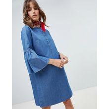 M.i.h Jeans - Beck - Jeanskleid mit ausgestellten Ärmeln - Blau