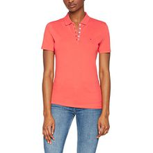 Tommy Jeans Damen Poloshirt Tjw Essential Polo, Rosa (Spiced Coral 689), Large