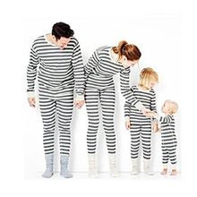 HLHN Weihnachten Familie Nachtwäsche Schlafanzug Pyjama Set (L, Grau(Damen))